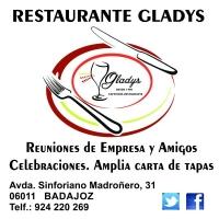RESTAURANTE GLADYS, restaurante en Badajoz, menú para grupos en Badajoz, comidas de empresa en Badajoz, menú de calidad en Badajoz