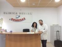 Recepción de Clínica dental Sonrisas en Badajoz