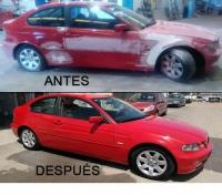 Reparación de Chapa y pintura de un BMW en Badajoz.