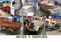 Reparación y personalización con los colores de empresa de furgoneta vintage en Badajoz