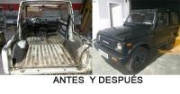 Reparación de chapa y pintura de un Suzuki en Badajoz capital
