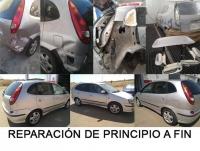 Reparación paso a paso de Nissan Almera, de chapa y pintura en Badajoz