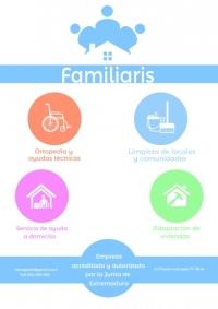 FAMILIARIS, servicio de ayuda a domicilio en Badajoz, Extremadura, asistencia en hospitales Badajoz capital, adaptación de viviendas, venta-alquiler de ortopedia en Badajoz, limpieza y mantenimiento de comunidades y empresas